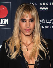 Sofia Boutella looked like a doll with her flowing blonde 'do at the 2018 GO Campaign Gala.