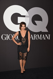Priyanka Chopra jumped in on the see-through bandwagon with this beaded, sheer-panel LBD at the GQ and Giorgio Armani Grammy after-party.