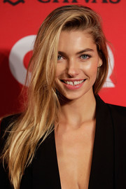 Jessica Hart topped off her look with an edgy side-parted 'do when she attended the GQ Men of the Year Awards.