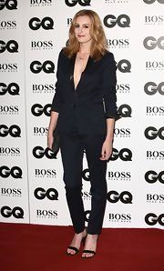 Laura Carmichael made this navy pantsuit look so sexy when she attended the GQ Men of the Year Awards.