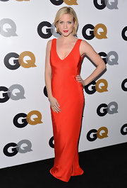 Brittany looked vibrant at the GQ Men of the Year Party in this silky red column dress.