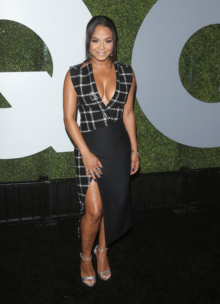 More Pics of Christina Milian Cocktail Dress (1 of 6) - Christina Milian Lookbook - StyleBistro [clothing,dress,fashion,little black dress,cocktail dress,leg,thigh,shoulder,footwear,long hair,arrivals,christina milian,gq men of the year party,california,los angeles,chateau marmont,gq men of the year party]
