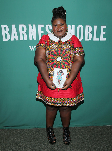 Gabourey Sidibe Gladiator Heels [book,this is just my face: try not to stare,photo,fashion,carpet,talent show,child model,copies,gabourey sidibe,gabourey sidibe signs,copy,barnes noble union square,new york city,appearance]