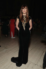 Carol Alt looked regal in a black velvet gown with a gold-embroidered bodice at the Angel Ball 2016.