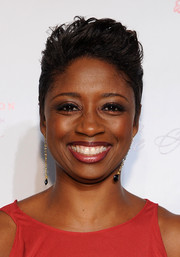 Montego Glover styled her hair in a red carpet-worthy fauxhawk for the Angel Ball.