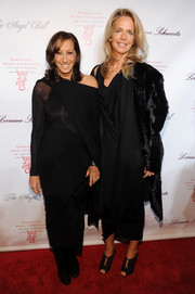 Donna Karan attended the Angel Ball looking modern in an asymmetrical black dress.