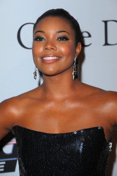 Gabrielle Union Dangling Gemstone Earrings