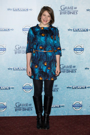 Gemma Whelan completed her outfit with a pair of chunky black knee-high boots.