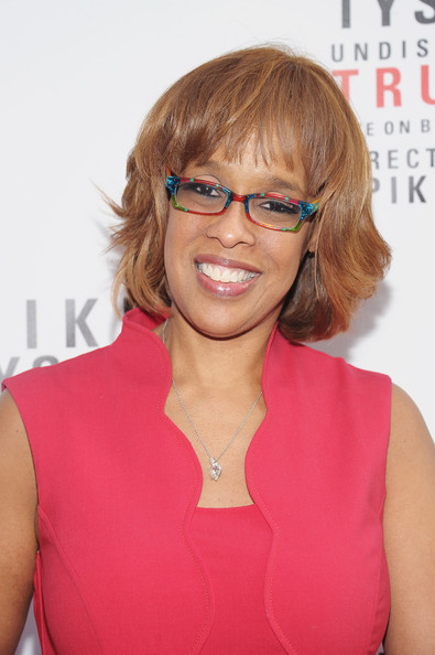 Gayle King Bob [mike tyson: undisputed truth,hair,eyewear,face,hairstyle,glasses,blond,chin,brown hair,premiere,hair coloring,opening night - arrivals,gayle king,curtain call,broadway,new york city,longacre theatre]