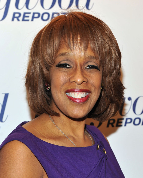 Gayle King Bob [the 35 most powerful people in media,the 35 most powerful people in media,hair,face,hairstyle,chin,eyebrow,hair coloring,shoulder,bangs,blond,brown hair,gayle king,four season grill room,new york city,hollywood reporter celebrates,hollywood reporter]