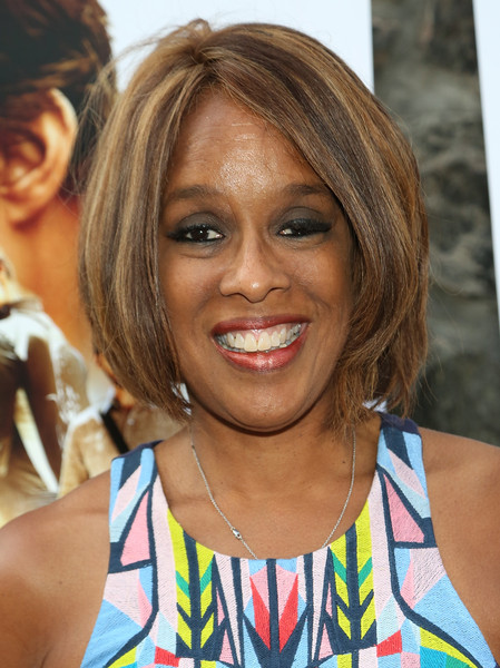 Gayle King Bob [hair,face,hairstyle,blond,eyebrow,chin,bob cut,layered hair,feathered hair,bangs,alec baldwin,arrivals,gayle king,east hampton,new york,united artists east hampton cinema,mission: impossible - rogue nation special screening]