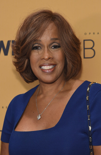 Gayle King Bob [hair,face,hairstyle,shoulder,electric blue,chin,blond,layered hair,long hair,brown hair,guests,gayle king,belief,thetimescenter,new york,new york premiere,premiere]