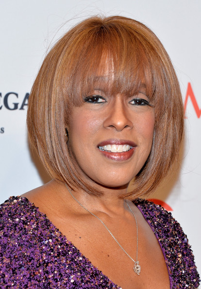 Gayle King Graduated Bob [hair,face,hairstyle,blond,chin,bangs,eyebrow,hair coloring,layered hair,bob cut,arrivals,gayle king,people,time 100 gala,jazz,world,new york city,lincoln center,time]