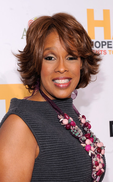 Gayle King Layered Razor Cut [hair,face,hairstyle,chin,lip,hair coloring,brown hair,layered hair,long hair,black hair,arrivals,gayle king,media personality,new york city,hope help relief haiti,urban zen,a night of humanity]