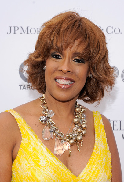 Gayle King Short Wavy Cut [photo,hair,hairstyle,blond,chin,brown hair,ringlet,hair coloring,layered hair,long hair,feathered hair,arrivals,gayle king,media personality,red carpet,the apollo theater,new york city,apollo theater spring benefit concert awards,ceremony,apollo theater spring benefit concert awards ceremony]