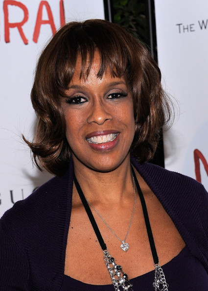 Gayle King Short Wavy Cut [miral,the premiere,hair,hairstyle,layered hair,black hair,brown hair,bangs,long hair,smile,bob cut,feathered hair,joseph deiss,his excellency,julian schnabel,host,weinstein company,of the 65th session of the united nations general assembly,united nations general assembly,premiere]