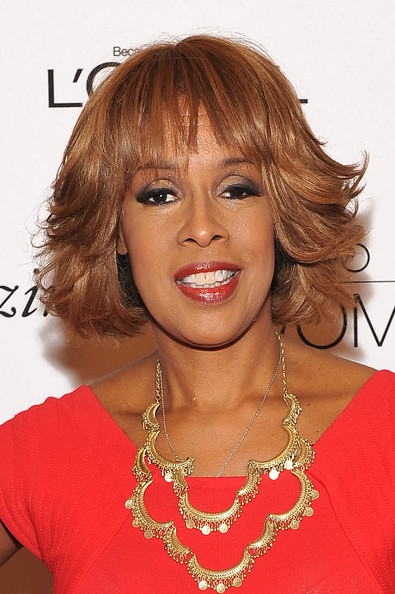 Gayle King Short Wavy Cut [hair,face,hairstyle,blond,eyebrow,chin,lip,hair coloring,layered hair,bangs,loreal paris women of worth awards,gayle king,o magazine editor,awards,new york city,hearst tower,loreal paris women of worth]