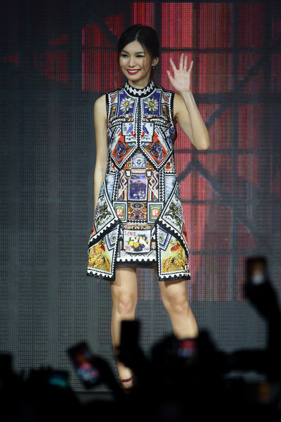 Gemma Chan Print Dress