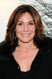 LuAnn de Lesseps looked chic with her center-parted razor cut at the Gentlemen Prefer Blondes event.