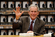 George W. Bush looked classic in a tweed blazer.
