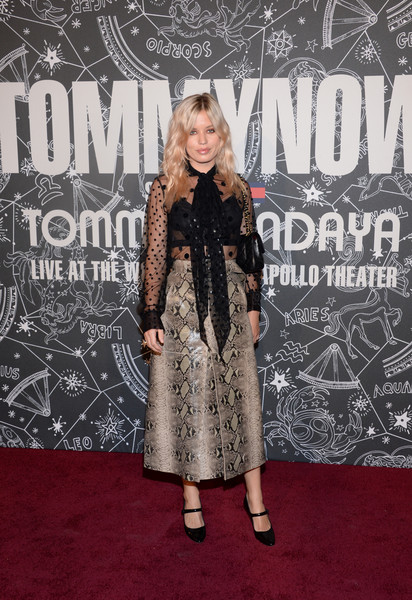 Georgia May Jagger Full Skirt [red carpet,carpet,premiere,flooring,fashion,dress,event,fashion design,black-and-white,style,tommynow,front row,atmosphere,front row atmosphere,new york,the apollo theater,georgia may jagger]