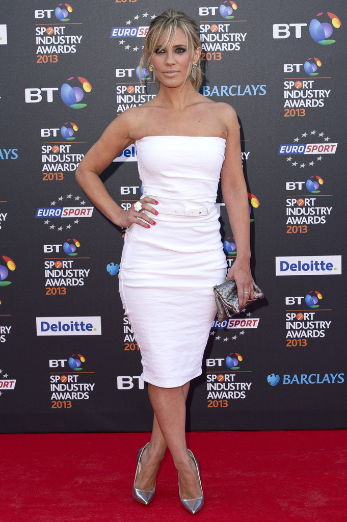 Georgie Thompson's looked white hot in a strapless dress.
