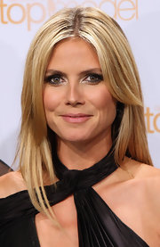 Heidi Klum looked gorgeous, as always, with her long blonde hair in a center part at the photocall for 'Germany's Next Top Model.'