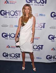 Ivanka Trump stepped into an elegant white pair of heels for the opening night of 'Ghost, The Musical' on Broadway.