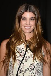 Bianca Brandolini sported a super-long wavy hairstyle at the Giambattista Valli fashion show.