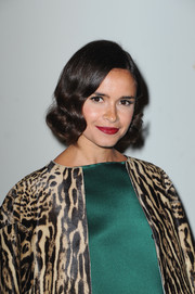 Miroslava Duma went for retro flair with this finger-wave hairstyle during the Giambattista Valli fashion show.