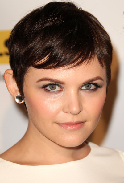 Ginnifer Goodwin Sterling Studs [face,hair,eyebrow,hairstyle,chin,forehead,lip,head,cheek,beauty,arrivals,ginnifer goodwin,glsen respect awards,straight education network respect awards,beverly hills hotel,california,gay and lesbian]