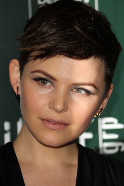 Ginnifer Goodwin Boy Cut [hair,face,eyebrow,hairstyle,forehead,chin,lip,head,black hair,nose,ginnifer goodwin,lacoste - arrivals,hotel,california,beverly hills,the beverly hilton,lacoste,sponsor,13th annual costume designers guild awards]