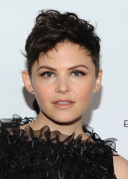 Ginnifer Goodwin Messy Cut [the art of elysium,pieces of heaven art auction,pieces of heaven art auction,hair,face,hairstyle,eyebrow,lip,forehead,black hair,chin,beauty,human,ginnifer goodwin,campaign hollywood 2011,cosmopolitan of las vegas,siren studios,hollywood,california,vanity fair]