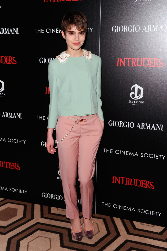 "Actress Sami Gayle attends the Giorgio Armani & The Cinema Society screening of ""Intruders"" at the Tribeca Grand Hotel on March 19, 2012 in New York City."