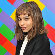 Zoe Kravitz left her shoulder-length hair straight and causally tousled at a screening of 'Albert Nobbs.'