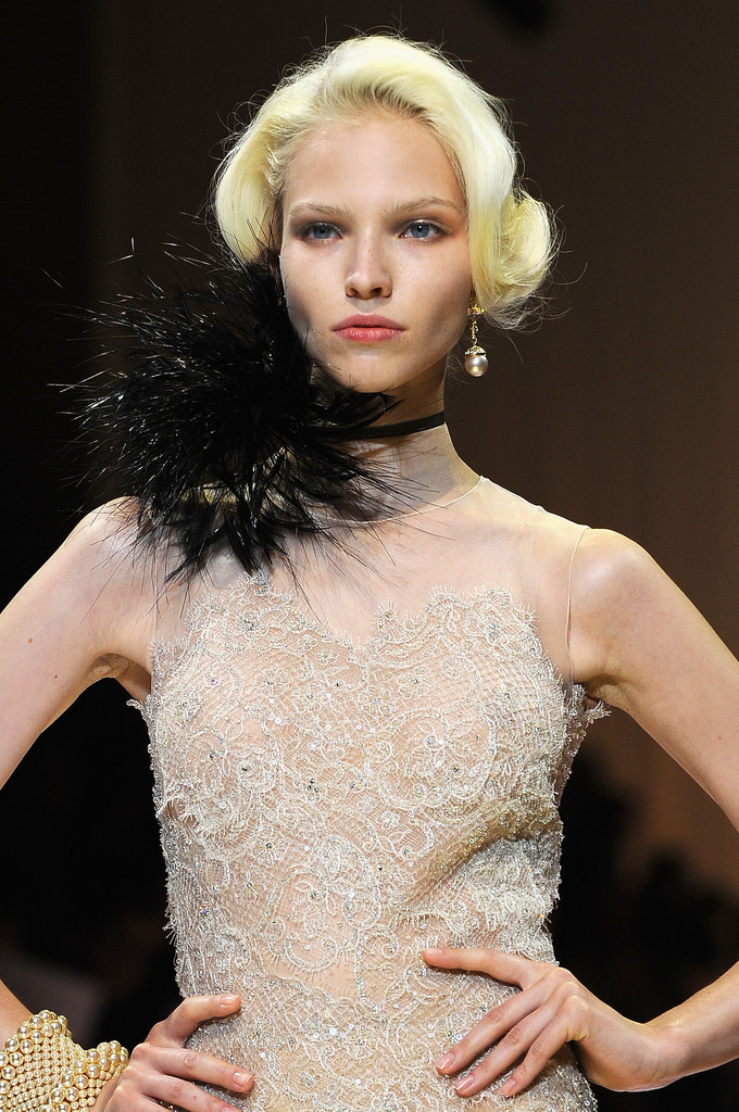 Armani Prive Glamazon Bobs Fall 2013 Haute Couture Fashion Week The Best Beauty Looks