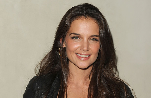 More Pics of Katie Holmes Leather Jacket (1 of 7) - Outerwear Lookbook - StyleBistro
