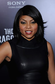 Taraji P. Henson wore her hair in a sleek, straight bob with lots of shine at the NYC premiere of 'The Girl With the Dragon Tattoo.'