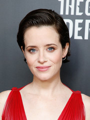 Claire Foy attended the New York screening of 'The Girl in the Spider's Web' wearing her hair in a neat side-parted style.