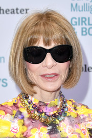 Anna Wintour attended the 'Girls & Boys' Off-Broadway opening night wearing this bob with wispy bangs.