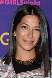 Rebecca Minkoff topped off her look with a sleek straight asymmetrical cut during the 'Girls' season 3 premiere.
