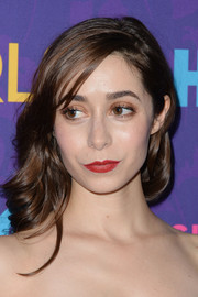 Cristin Milioti wore her curly hair down with side-swept bangs during the 'Girls' season 3 premiere.