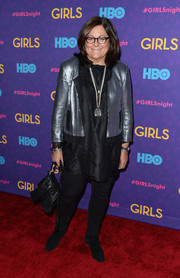 Fern Mallis was rocker-glam in a silver sequined jacket at the 'Girls' season 3 premiere.