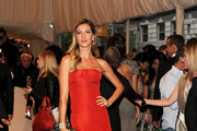 Gisele Bundchen Best Dressed in Ravishing Red Alexander McQueen at the 2011 Met Gala