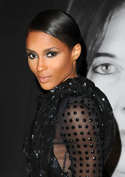 Ciara donned a sleek bun while walking the red carpet.