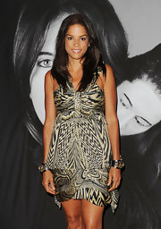 Veronica Webb donned a printed halter dress to The Artist is Present event.
