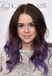 Acacia Brinley looked oh-so-cool with her dip-dyed waves at the NYC premiere of 'The Giver.'