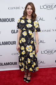 Sofia Coppola channeled spring with this Michael Kors floral midi dress at the 2017 Glamour Women of the Year Awards.