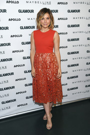 Sophia Bush opted for this lovely 'Geometric Sequin Dress' by Self Portrait.