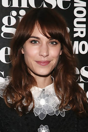 Alexa Chung looked oh-so-pretty with her subtle waves and blunt bangs during Glamour's presentation of 'These Girls.'